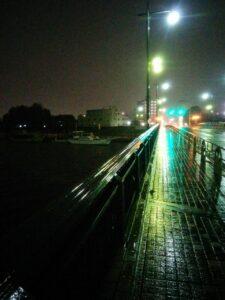 夜の小岩大橋