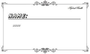 ~イベント用~名刺表-優先招待券の表側